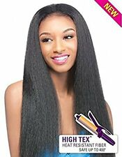 Synthetic Heat Resistant Hair Half Wig Quick Weave Annie by Outre - 1B off Black