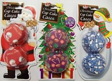 Queen Of Cakes - Christmas Cupcake Muffin Cases - 3 Assorted Designs 300 Cases