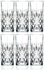 6 x RCR Melodia Crystal Hi-Ball Tumblers High Ball Glass ❄Christmas Gift Idea❄