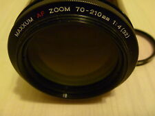 minolta maxxum AF 70-210mm f1:4 beercan lens with skylight and hood japan