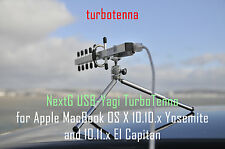 NextG USB-Yagi Turbotenna Wi-Fi booster antenna Kit for Apple Macbook El Capitan