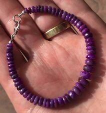 Gel Sugilite Bead Bracelet 11.7 grams Sterling Silver Wessels Mine
