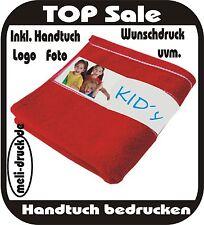 Handtuch Gästehandtuch Duschhandtuch bedrucken nach Wunsch 50x100cm