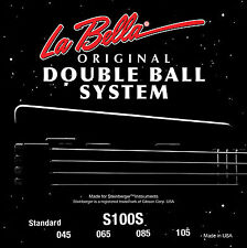 "LA BELLA S100S DOUBLE BALL END ""STEINBERGER"" BASS STRINGS, 4 string set, 45-105"