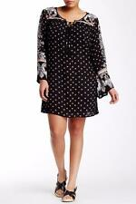 ANGIE~BLACK~FLORAL *HIPPIE TUNIC DRESS* PEASANT MINI DRESS~3X (SOLD OUT)