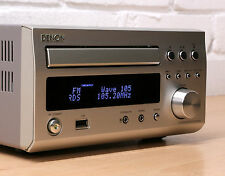 Denon rcd-m37 HI-FI COMPATTO CD mp3 sintonizzatore FM AM DAB SISTEMA AUDIO AUX IN 99p NR