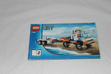 LEGO City Coast Guard Truck & Speed Boat 7726 Booklet 2 INSTRUCTION Book