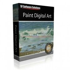 PROFESSIONAL DIGITAL ART PAINTING PAINTER SOFTWARE. WATERCOLOUR, CHARCOAL & MORE