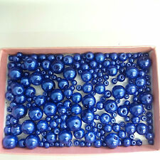 200 Assorted Sizes 4mm 6mm 8mm 10mm Glass Pearl Beads Lapis
