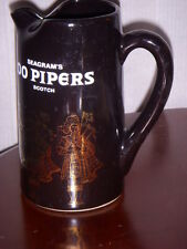 100 PIPERS FROM SCOTLAND SCOTCH WHISKEY WATER PITCHER / JUG