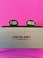 Onyx Art Cuff links NEW AND BOXED Grandfather Grand Father CK58