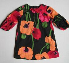 Baby Gap Outlet AMERICAN IN PARIS Girls 3T Floral Dress EUC Black Orange Pink