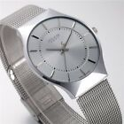 New Fashion Stainless Steel Band Military Sport Analog Quartz Men's Wrist Watch