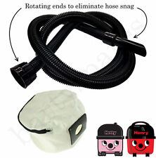 EXTRA LONG HOSE & RE USABLE CLOTH DUST BAG for HENRY HETTY Vacuum hoover