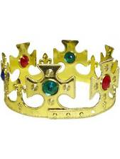 Royal Gold Crown Adults Fancy Dress Mens Ladies Medieval King & Queen Accessory