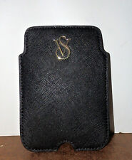 Victoria's Secret Black Leather Cell Phone Sleeve Holder For iPhone 4/5