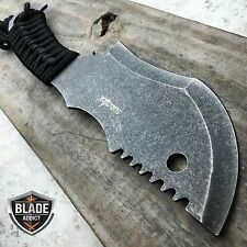 "10.5"" STONEWASH TACTICAL SURVIVAL FULL TANG FIXED BLADE KNIFE HUNTING CLEAVER"