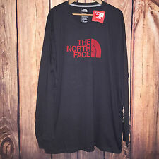 NWT MENS BIG LOGO GRAY HALF DOME L/S NORTH FACE COTTON L/S GRAPHIC T SHIRT 3XL