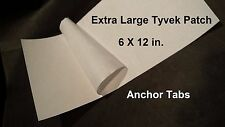 """2pc. 12X6"""" Adhesive Dupont Tyvek Tape Patch for Footprints & Ground Cloth Sheets"""