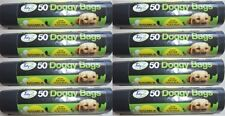 400 XXL Super Strong Double Thick Doggy Poo Bags (8 x 50 Rolls) 32cm x 38cm