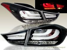 2011 2012 2013 ELANTRA LED TAIL LIGHTS BLACK 4PCS (OUTER PCS W/ BULB)