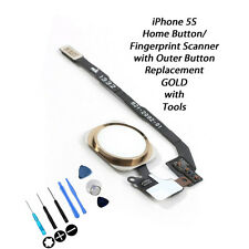 NEW GOLD & WHITE Complete Home Button Replacement Kit FOR iPhone 5S 5GS