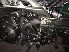 TRW / Lucas Fußrastenanlage Yamaha MT09 MT-09 mit TÜV