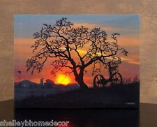 Lighted Farm Scene Picture Waiting For Daybreak Radiance Canvas 72111 NEW