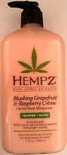 Hempz Blushing Grapefruit & Raspberry Creme Herbal Moisturizer After Tan Lotion