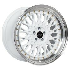 18x9.5 ARC AR1 5x100 +35 White Rims Fits Dodge Neon Srt4 Forester Outback