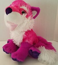 "Wild Republic Pink Fox Plush Stuffed Animal Toy 11"" Purple 2010 Beanbag Feet"