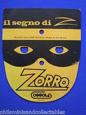 Zorro - cardboard Italian mask   1979.