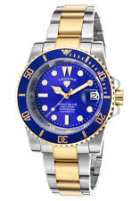 @NEW Legend LD-1001A-SG-33 Deep Blue Automatic Two-Tone SS Blue Dial Gold Tone
