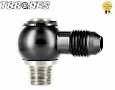 """AN -6 (JIC6) to 1/4"""" NPT Banjo Assembly for Facet Red / Blue Top Fuel Pump Black"""
