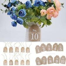 Rustic Wedding Table Numbers Vintage Burlap Cards Wedding Party Decoration