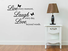 Live Every moment Laugh every day Love much wall art sticker vinyl decal decal