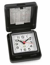 Champion Alarm Clock Black Folding Travel Table Small Traditional Luminous Basic