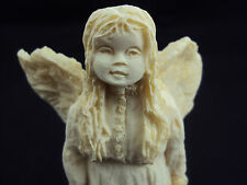 Angel Sculpture, Girl Angel In Long Dress Carrying Teddy Bear, Free Shipping!