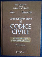 Commentario Breve Al Codice Civile 9 Edizione CEDAM Cian Trabucchi