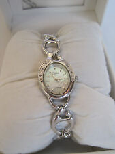 "NIB Colibri ""Mother and Child"" Watch, Mother of Pearl Face, Diamond Chip Accents"