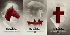 3 ALTERNATIVE MOVIE POSTERS The GODFATHER by Greg Ruth VERY LIMITED not mondo