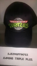 TMNT BASEBALL CAP (OSFM NWT BLACK HAT) TEENAGE MUTANT NINJA TURTLES (UNWORN) 14+