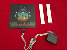 sound Activated DJ LED Flashing Light UP DISCO BALL PANEL W SENSOR FOR T SHIRT