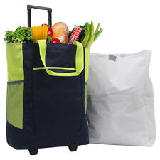 "GP 20"" Carry-on Navy Handy Rolling Shopping Tote Wheeled Travel / Grocery Bag"