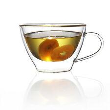 Mano Chiaro Resistente al Calore di Vetro Doppia Maniglia Tazza di Caffè 300ml