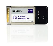 Belkin N Wireless Notebook Laptop Rete Internet Scheda CardBus PC Adattatore