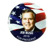 "2016 JEB BUSH for PRESIDENT 2.25"" CAMPAIGN BUTTON, jbf"