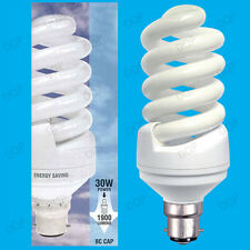 4x 30W (=150W) Daylight SAD Low Energy CFL 6400k White Light Bulbs BC B22 Lamps