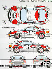 TOYOTA CELICA GT FOUR ST185 1992 MONTE CARLO #2 #6 #10 DECAL for 1/24 TAMIYA