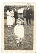 Little Boy Bloomers Girly Shoes 1918 vintage snapshot Photo